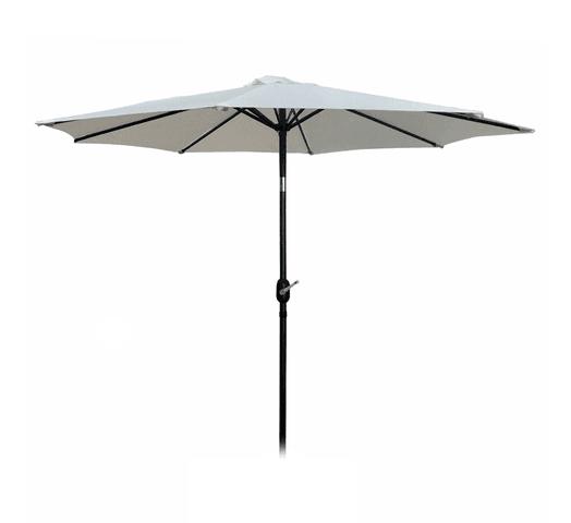 Sombrilla de Jardín 3m Diam poliester con Filtro UV - Blanco al mejor precio solo en loi