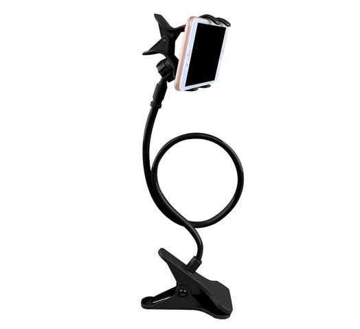 Soporte para Celular Pinza con Brazo Flexible - Negro al mejor precio solo en loi