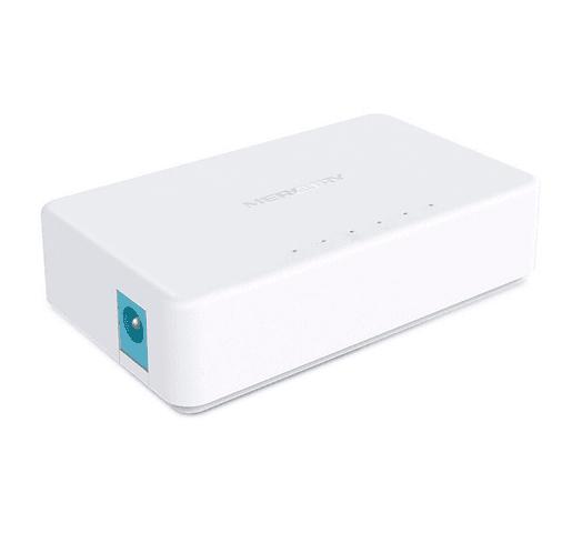 Switch de Escritorio Mercusys con 5 puertos RJ45 10/100Mpbs al mejor precio solo en loi
