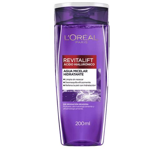 Agua Micelar L'Oréal con Ácido Hialurónico, limpia, desmaquilla e hidrata al mejor precio solo en loi