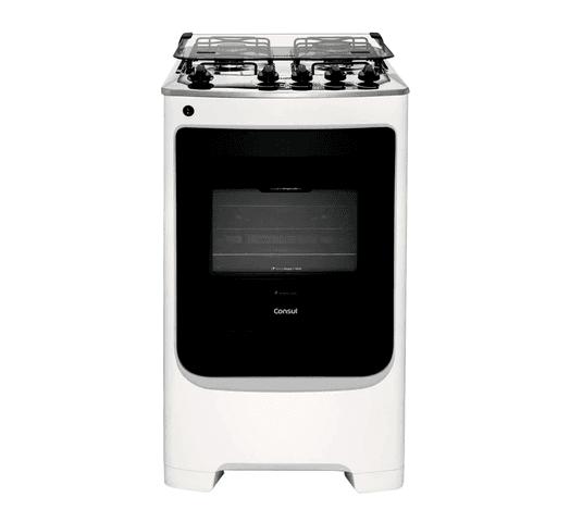 Cocina Consul 4 Hornallas a Gas horno 58 Litros Mesada Acero Inoxidable Encendido Automático - Blanco al mejor precio solo en loi