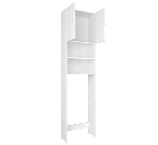 Mueble para Baño Sobre Inodoro con Puertas y Varios Estantes - Blanco al mejor precio solo en loi