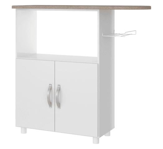 Mueble Multiuso con Tabla de Planchar y Soporte Para Plancha - Blanco al mejor precio solo en loi