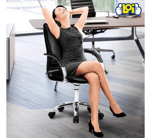 Silla H1 de Oficina Ejecutiva con Apoyabrazos y Altura Regulable al mejor precio solo en loi