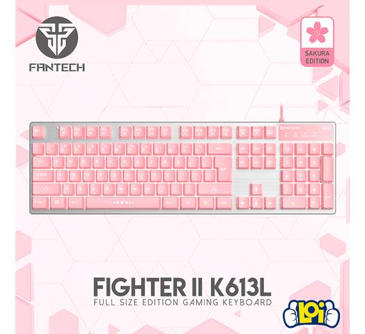 Teclado Gamer Fantech Fighter II K613L Sakura Edition al mejor precio solo en loi