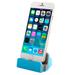 Cargador Base para Iphone Sincronizador Conexión Lightning USB - Celeste al mejor precio