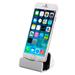 Cargador Base para Iphone Sincronizador Conexión Lightning USB - Plateado al mejor precio solo en loi