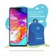 """Celular Samsung Galaxy A70 con una pantalla Super AMOLED FHD+ de 6.7"""". La cámara trasera triple, incluye una cámara de ángulo ultraamplio de 123º de 8MP, así como una cámara de 32MP, y una cámara de profundidad de 5MP para tomar fotografías nítidas y brillantes. Equipado con sistema operativo Android, 6GB de RAM, 128GB de almacenamiento y una batería de 4500mAh que te acompaña todo el día."""