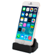 Cargador Base para Iphone Sincronizador Conexión Lightning USB - Negro al mejor precio solo en loi